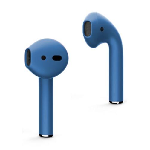 Цветные AirPods (голубой матовый цвет)